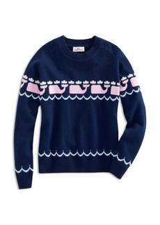 Vineyard Vines Girls' Intarsia Whale-Print Sweater - Big Kid