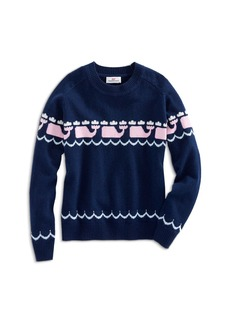 Vineyard Vines Girls' Intarsia Whale-Print Sweater - Little Kid