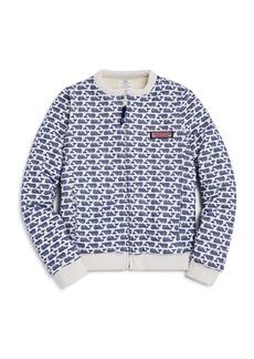 Vineyard Vines Girls' Printed & Faux-Fur Reversible Sweater - Little Kid