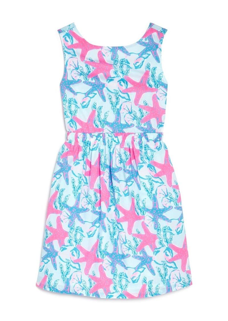 Girls' Starfish & Conch Tie-Back Dress - Little Kid, Big Kid