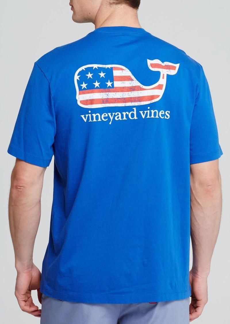 Vineyard Vines Graphic Flag Whale Pocket Tee