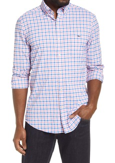 vineyard vines Grouper Classic Fit Plaid Button-Down Performance Shirt