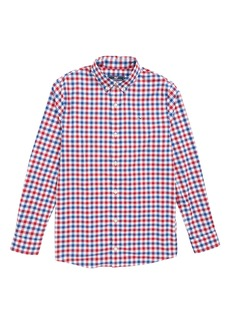 vineyard vines Gull Island Gingham Whale Shirt (Big Boys)