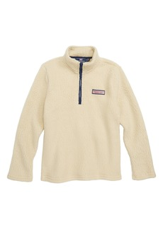 vineyard vines Harbor Fleece Half Zip Pullover (Big Boys)