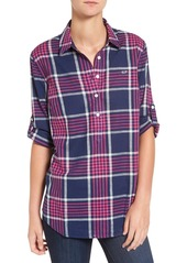 Vineyard Vines 'Harbor' Relaxed Plaid Popover Top