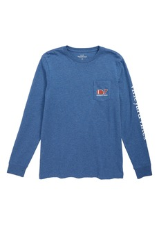vineyard vines Heathered Football Whale Pocket T-Shirt (Big Boys)