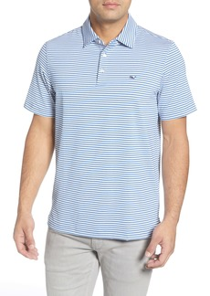 vineyard vines Heathered Winstead Regular Fit Stripe Sankaty Performance Polo