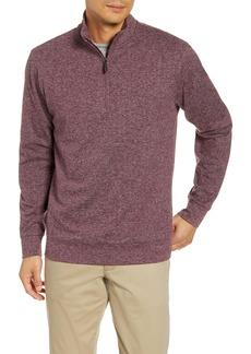 vineyard vines Herringbone Half Zip Flannel Pullover