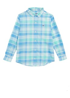 vineyard vines Homer Pond Plaid Whale Shirt (Big Boys)