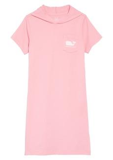 vineyard vines Hooded T-Shirt Dress (Little Girls & Big Girls)