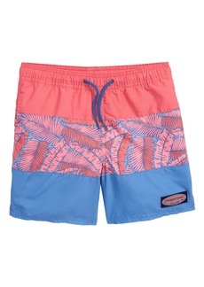 3f27a5b7f9 vineyard vines Island Palm Pieced Chappy Swim Trunks (Toddler Boys & Toddler  Boys)