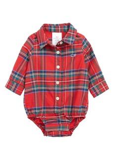 vineyard vines Jolly Plaid Flannel Bodysuit (Baby)