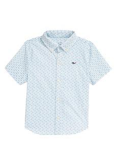 vineyard vines Kid's Bonefish Batik Performance Short Sleeve Button Up Shirt (Toddler & Little Boy)