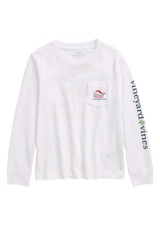 vineyard vines Kids' Christmas Whale Long Sleeve Pocket T-Shirt (Toddler & Little Boy)