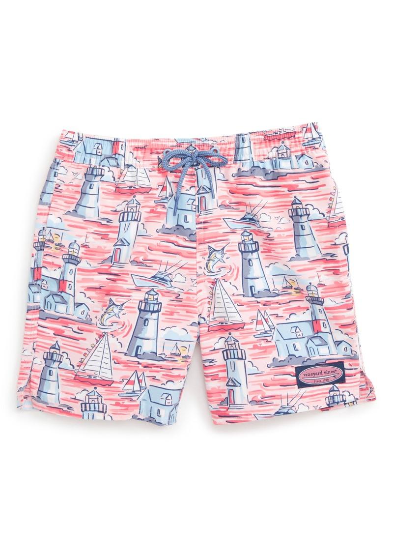 6cb3a489e4 Vineyard Vines Lighthouse Scenic Chappy Swim Trunks (Toddler Boys   Little  Boys)