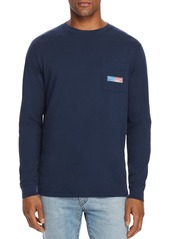 Vineyard Vines Long-Sleeve Flag Box Logo Graphic Pocket Tee