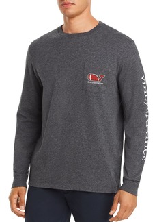Vineyard Vines Long-Sleeve Football Whale Logo Graphic Pocket Tee