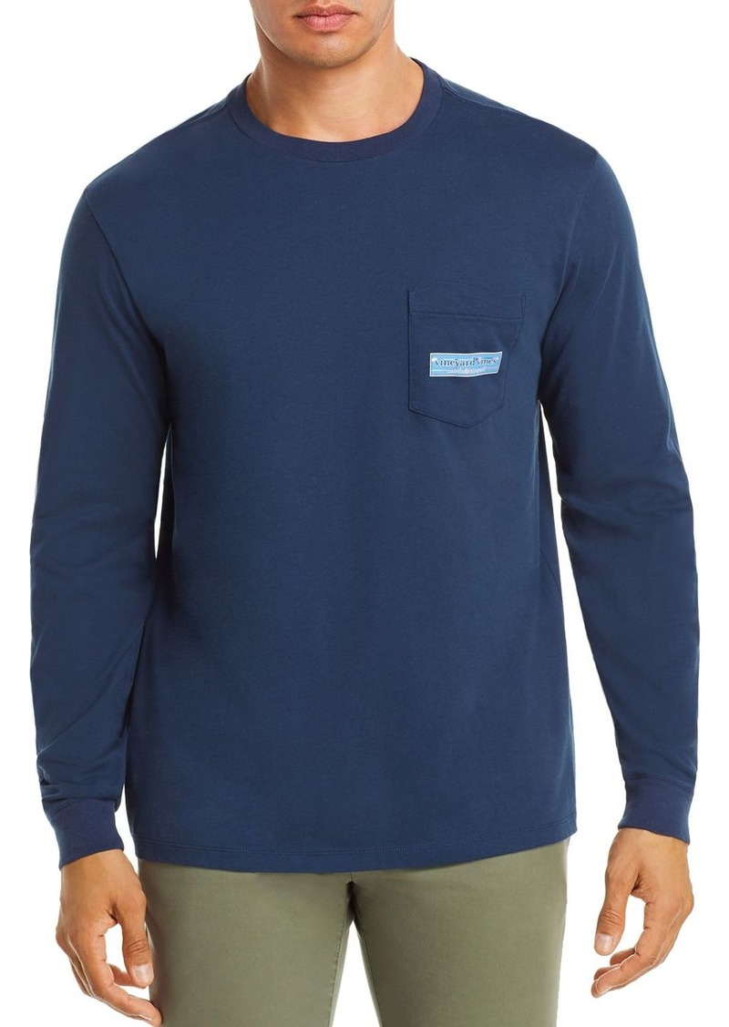 Vineyard Vines Long-Sleeve Paddle Box-Logo Graphic Pocket Tee