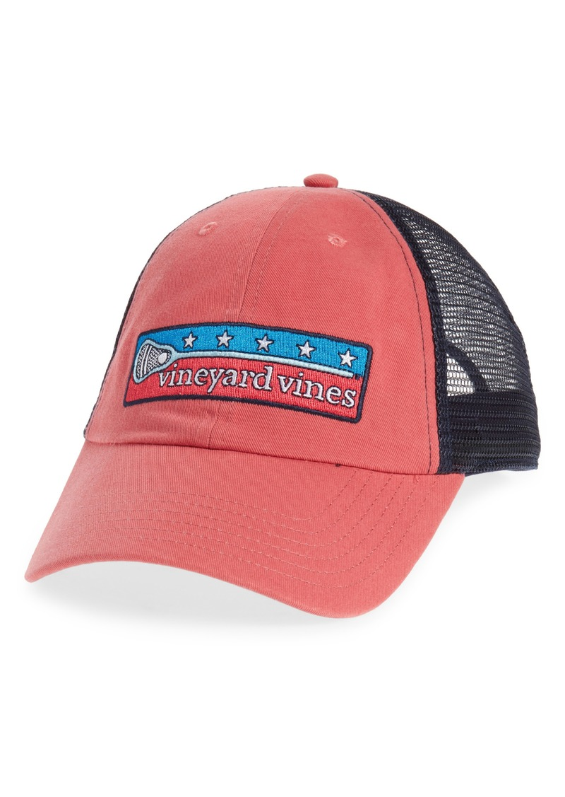 29dafc137a1fb Vineyard Vines vineyard vines Low Profile Lax Patch Trucker Hat ...