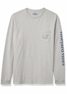 vineyard vines Men's Big & Tall Long-Sleeve Whale Pocket T-Shirt
