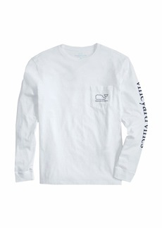 vineyard vines Men's Big & Tall Long-Sleeve Whale Pocket T-Shirt