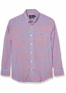 vineyard vines Men's Classic Fit Long-Sleeve Grouper On-The-Go Performance Tucker Shirt