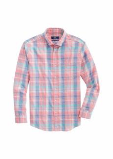 Vineyard Vines Men's Classic Fit Long Sleeve Plaid Shirt in Island Twill