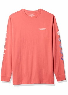 Vineyard Vines Men's Long Sleeve Baseball Icon T-Shirt  Extra Small