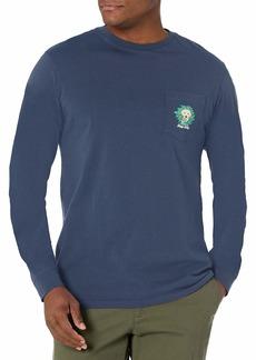 Vineyard Vines Men's Long Sleeve Family's Best Friend Pocket T-Shirt