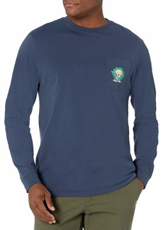 Vineyard Vines Men's Long Sleeve Family's Best Friend Pocket T-Shirt