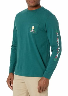 Vineyard Vines Men's Long Sleeve Holiday Spirits Pocket T-Shirt