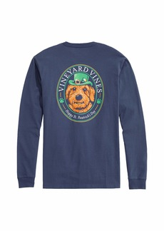 Vineyard Vines Men's Long Sleeve St. Patricks Day Pocket T-Shirt
