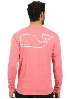 vineyard vines Men's Long Sleeve Vintage Whale Pocket Tee