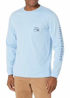 Vineyard Vines Men's Long Sleeve Woody & Gifts Pocket T-Shirt  XX Large