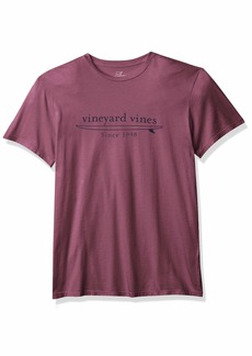 Vineyard Vines Men's Short Sleeve Garment Dyed Simple Surf Logo Island T-Shirt
