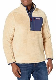 vineyard vines Men's Stillwater Sherpa Quarter Zip Pullover Jacket