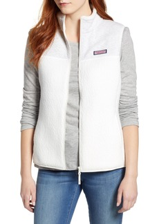 vineyard vines Mix Media Fleece Vest