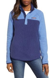 vineyard vines Mixed Media Fleece Pullover Jacket