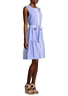 Vineyard Vines Mixed Pinstriped Shirt Dress