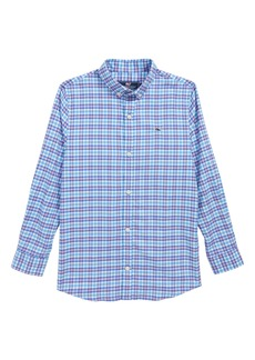 vineyard vines Morgan Way Flannel Whale Shirt (Big Boys)