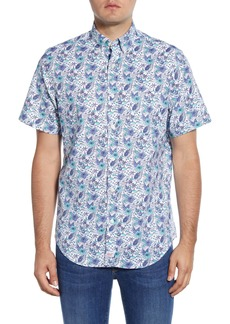 vineyard vines Murray Classic Fit Tropical Short Sleeve Button-Down Shirt