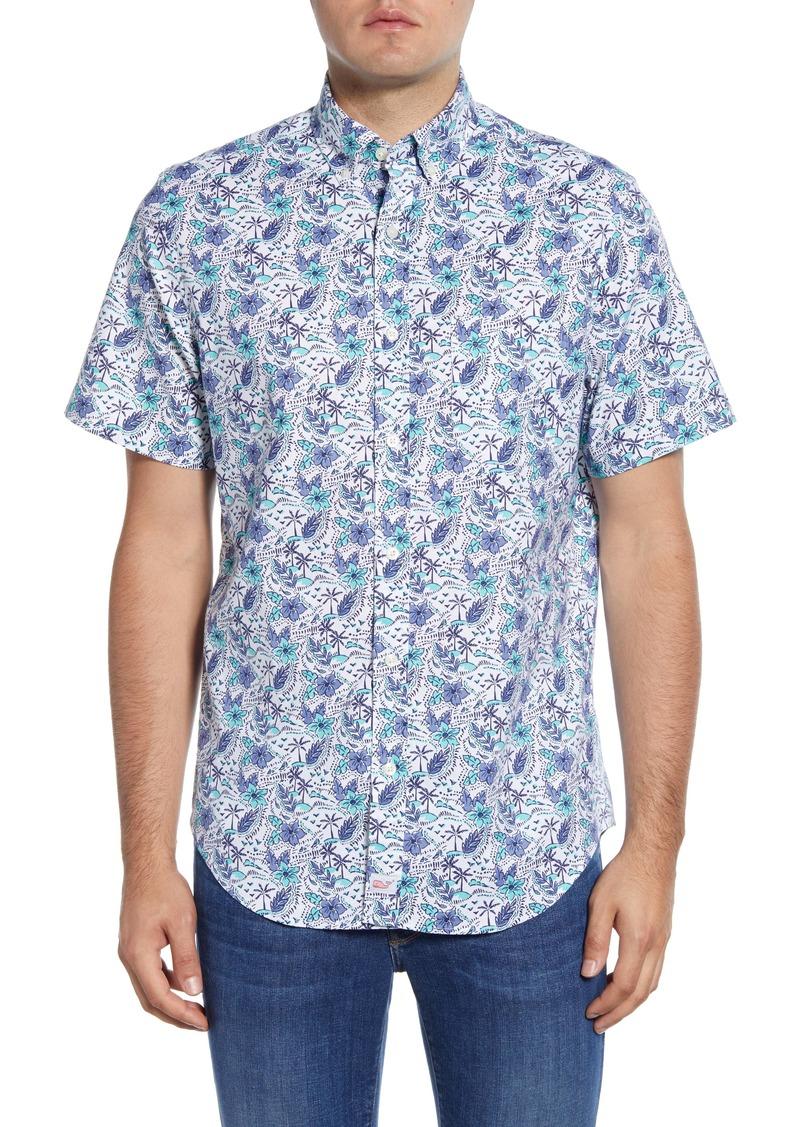 vineyard vines Murray Classic Fit Tropical Short Sleeve Button-Down Shirt