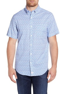 vineyard vines Murray Regular Fit Floral Short Sleeve Button-Down Sport Shirt