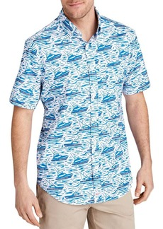 Vineyard Vines Murray Short-Sleeve Sailboat-Print Classic Fit Button-Down Shirt