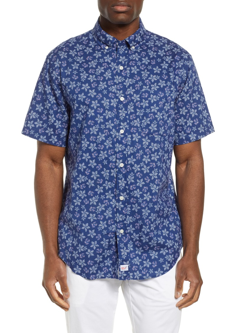 vineyard vines Murray Slim Fit Floral Print Sport Shirt