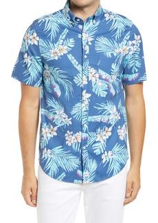 vineyard vines Murray Slim Fit Floral Short Sleeve Button-Down Shirt