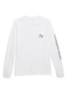 vineyard vines Naughty or Nice Santa Whale Pocket T-Shirt (Big Boys)