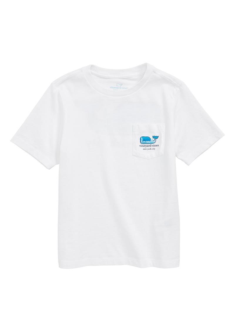 vineyard vines New York City Whale Pocket T-Shirt (Toddler Boys, Little Boys & Big Boys)