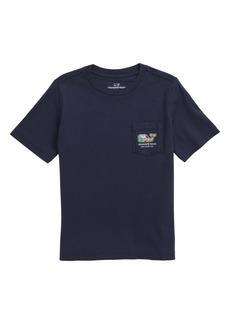 vineyard vines NYC Tourist Sticker Whale Fill T-Shirt (Big Boys)