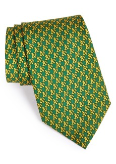vineyard vines Oakland Athletics - MLB Woven Silk Tie